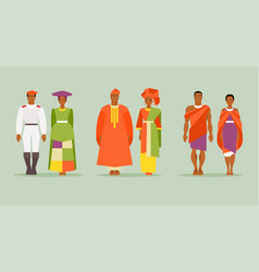 african costumes vector image