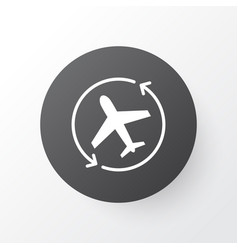 airplane direction icon symbol premium quality vector image