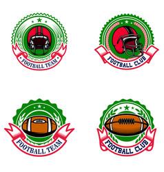 american football emblems design element for logo vector image