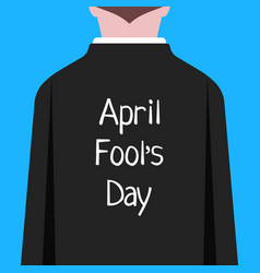 april fool day like man in suit prank vector image