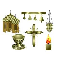 Attributes of the Christian Church vector