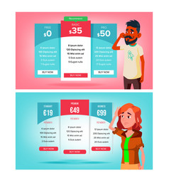Bewildered character choose subscription vector