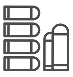 Bullets line icon ammunition vector