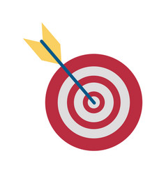 Bullseye or dartboard icon image vector
