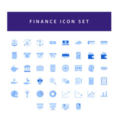 Business and finance icon set with colorful vector