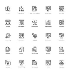Business and finance line icon 24 vector