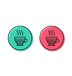 Cafe creme icon hot drink sign vector