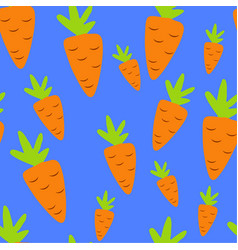 Carrot pattern seamless pantone vector