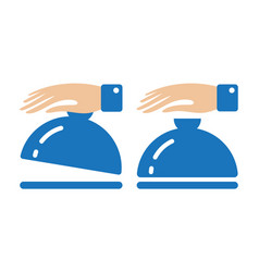 Catering service icon with waiter hand holding vector