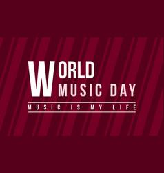 Celebration music day background style vector