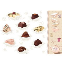 Chocolate sweets vector