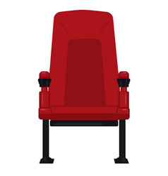 Comfortable red cinema seat for watching movies vector