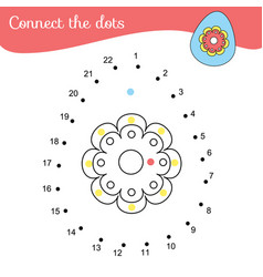 Connect the dots by numbers educational game for vector