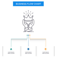 Crown honor king market royal business flow chart vector