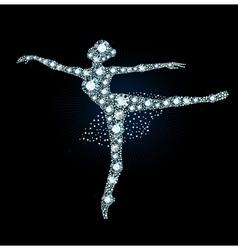 Diamond ballet dancer vector