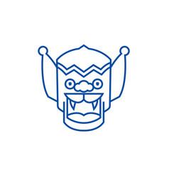 dragonchina line icon concept dragonchina flat vector image