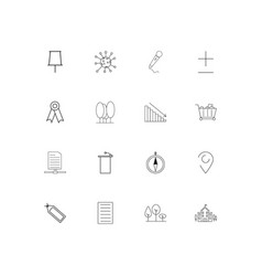 Education and science simple linear icons set vector
