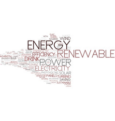energy word cloud concept vector image