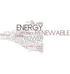 Energy word cloud concept vector