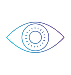 eye icon in color gradient silhouette from purple vector image