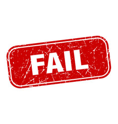 Fail stamp fail square grungy red sign vector