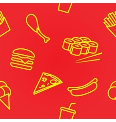 Fastfoodset seamless vector