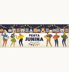 festa junina brazil june festival vector image