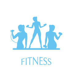 Fitness club icon vector