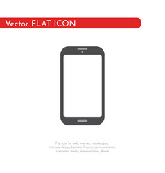 flat icon mobile for web business finance and vector image