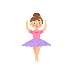 flat teen kid ballerina isolated vector image