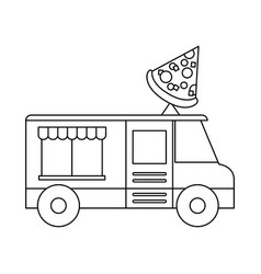 food trucks design vector image