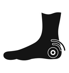 foot heel icon simple style vector image