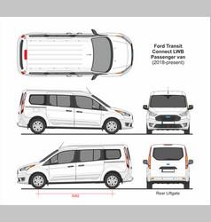 Ford transit connect lwb passenger van 2018 vector