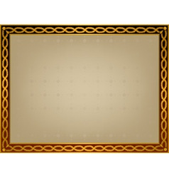 frame with golden twirl vector image