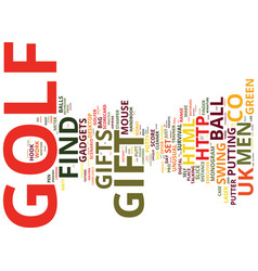 Golf gadgets at wwwfind me a giftcouk text vector