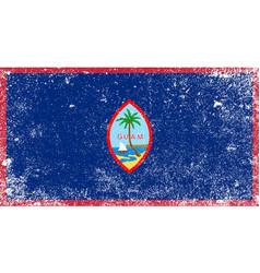 Grunge flag of guam vector