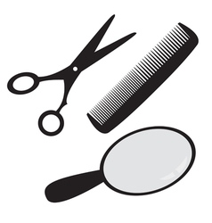hairdressing accessories vector image vector image