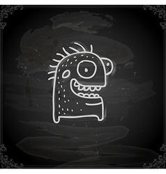 Hand drawn happy monster vector
