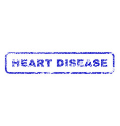 Heart disease rubber stamp vector