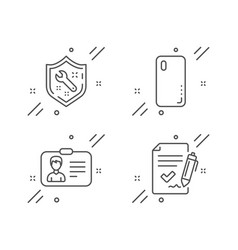 Identification card spanner and smartphone cover vector