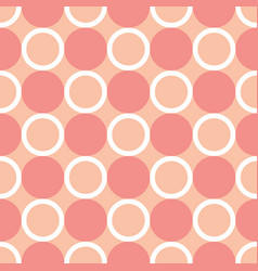 infinity circle shape repeating seamless pattern vector image
