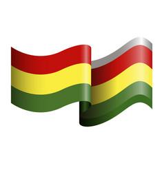 Isolated flag of ghana vector