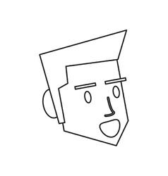 Isolated man cartoon head design vector image
