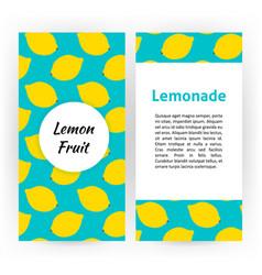 lemon fruit flyer vector image