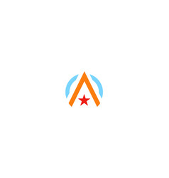 letter a star logo vector image