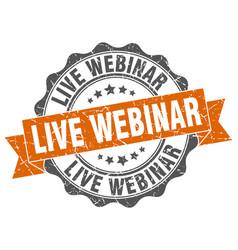 Live webinar stamp sign seal vector