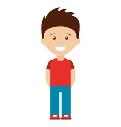 man avatar human figure boy vector image