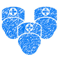 Medical staff grunge icon vector