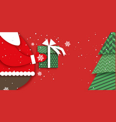 Merry christmas greetings card with santa claus vector