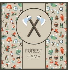 Modern flat design of camping and vector image